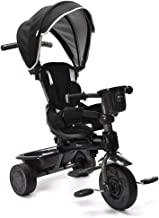 ChromeWheels 4-in-1 Kids' Trike & Stroller, Adjustable Height Push Ride Tricycle for 9 Months - 5 Year Old