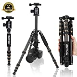 ZOMEi Z669C Portable Carbon Tripod Monopod Kit & Ball Head Compact for Canon Sony,...