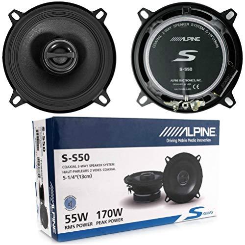 2 Altavoces coaxiales de 2 vías Compatible con Alpine S-S50 5.25