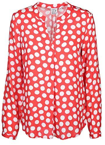 Emily van den Bergh Damen Bluse Größe 44 EU Rot (rot)