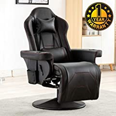 Ergonomic: Find your optimal position by reclining between 90 - 135 degrees with infinite locking positions, provides you with a safe and comfortable back support and a more comfortable gaming pose Sturdy: Integrated metal frame, high-quality PU leat...