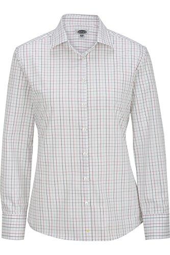 Edwards Women's Long Sleeve Patterned Dress Shirt, Brick, Large