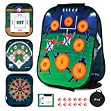 GUD 3 in 1 Dart Board, Football, Baseball sports Game, Target Toss Toys, Kids Adults & Family sports Gift Set, Indoor Outdoor Yard Lawn Boys Birthday All Year Old Ages