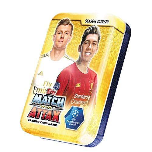 Match Attax 2019/20 Topps Empty - Mini Lata (2 Kroos y Firminho) + 10 Tarjetas Gratis