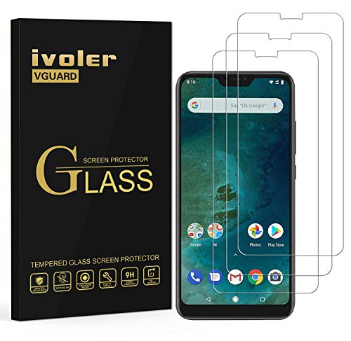 iVoler [3 Pack] Pellicola Vetro Temperato per Xiaomi Mi A2 Lite, Pellicola Protettiva Protezione per Schermo per Xiaomi Mi A2 Lite - Transparente