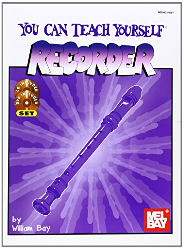 Price comparison product image Mel Bay You Can Teach Yourself Recorder Book / CD / DVD Package (You Can Teach Yourself)