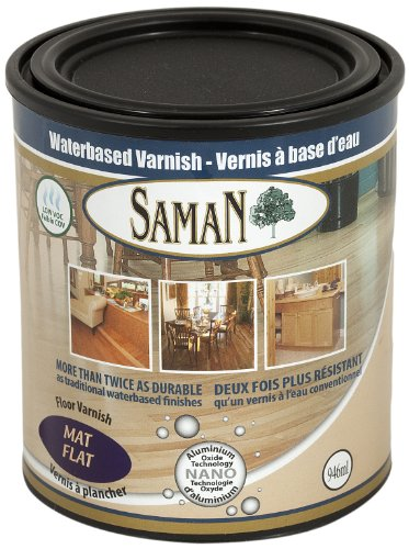 SamaN 160-005-1L 1-Quart Interior Water Based Flat Varnish with Aluminum Oxide