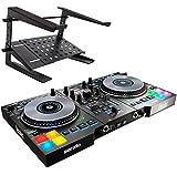 Hercules DJ Control Jogvision - Controlador de DJ USB y soporte para portátil keepdrum HA-LS20