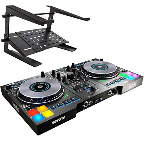 Hercules DJControl Jogvision - Controlador USB para DJ (incluye soporte Keepdrum HA-LS20)