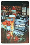 UOOPAI Beer Metal Poster Tin Sign of Blue Moon Art Wall Painting Pub Bar Wall...