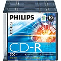 Philips CD-R CR7D5NS10/00 - CD-RW vírgenes (CD-R, 700 MB, 10 Pieza(s), 80 min, 52x)
