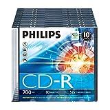 Philips CR7D5NS10/00 10 CD-R Box cristal 52x 80 min 700 Mo