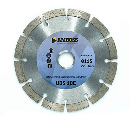 Amboss Diamant-Trennscheibe UBS 10E - 115 mm x 22.23 mm - Beton/Baustellenmaterialien/Stein | gesintert | Segmenthöhe 7 mm
