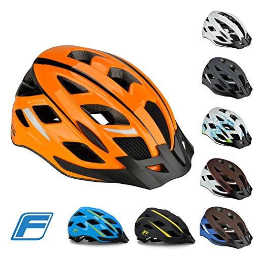 Fischer Adultos Urban Sport Bicicleta Casco, Naranja, S/M