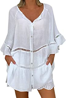 Amazon Es Tallas Grandes Mujer Vestidos Fiesta Blusas Y Camisas Camisetas Tops Y Blus Ropa