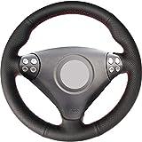 FANGPAN Couverture de Volant de Voiture en Cuir Artificiel, pour Mercedes-Benz Classe SLK W170 W171 SLK 200 200K 280 350 2004-2008