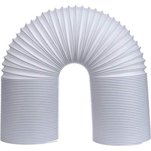 GEORGE Abluftschlauch KlimageräT Ø 128/130 mm 2m, Abluftschlauch Pvc Flexibel, GeräUscharm, Abluftschlauch HitzebestäNdiger Einziehbarer