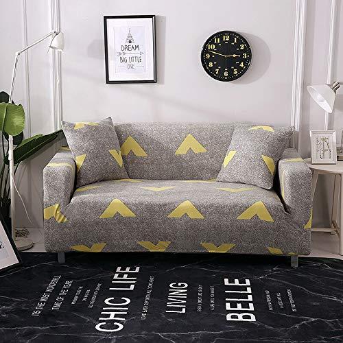 ASCV Geometrische Sofabezug für Wohnzimmer Moderne elastische Ecksofa Schonbezug Couchbezug Stuhlschutz A30 4-Sitzer