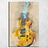 YWOHP Cartel de Arte de Pared Lienzo Grabado Rock Guitarra Lienzo Pintura Mural Cartel decoración Estilo nórdico Lienzo arte-40x60cm_No_Framed_15