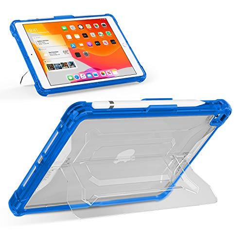 Youtec iPad 10.2 Case 2020 iPad 8th Generation Case/ 2019 iPad 7th Generation Case, Shockproof Rugged Armor iPad 10.2 Protective Clear Back Cover with Kickstand+Pen Holder for 10.2' iPad 8/ iPad 7