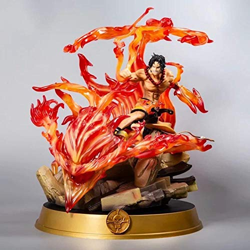 BIOAOUA PVC Figura Decoración De Escritorio Adornos Pop Acción Muñeca Personaje De Dibujos Animados Modelo Ace Decisivo Batalla Fuego Puño Grande Ace Estatua En Caja Muñeca Decoración Modelo 39 Cm