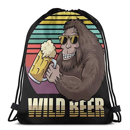 Bigfoot Bier Kordelzug Bapa Gym Sa Pa Stil Saitentasche Sa Sport Cinch Pa Taschen Beach Rusa