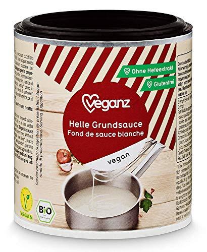 Veganz BIO Helle Grundsauce - Vegane Basis Sauce für Feinschmecker Saucen Rezepte - Soße Vegan Hell 6 x 140g