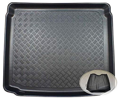 ZentimeX Z3350652 Geriffelte Kofferraumwanne fahrzeugspezifisch + Klett-Organizer (Laderaumwanne, Kofferraummatte)