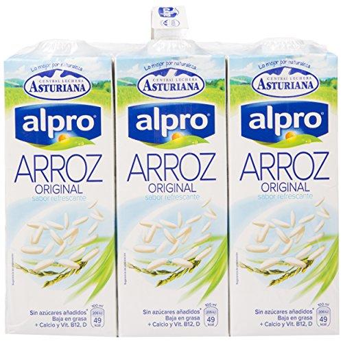 Alpro Central Lechera Asturiana Bebida de Arroz - Paquete de 6 x 1000 ml - Total: 6000 ml