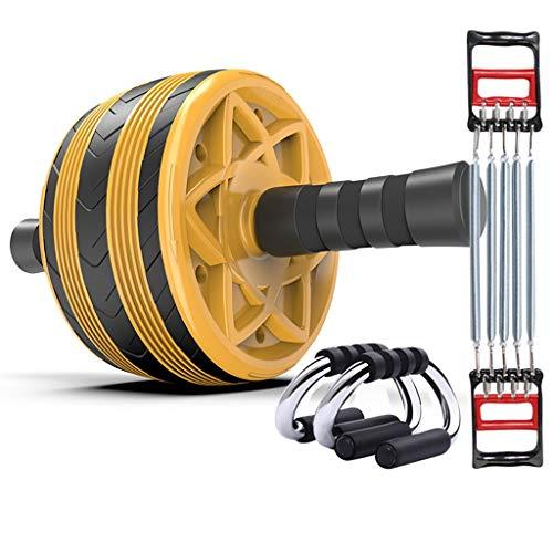 Abdominal Rad Bauchmuskeln Roller Männer/Frauen Bauch Push-Rad Sport Home Fitnessgeräte Bauchtrainer (Color : Yellow, Size : C)