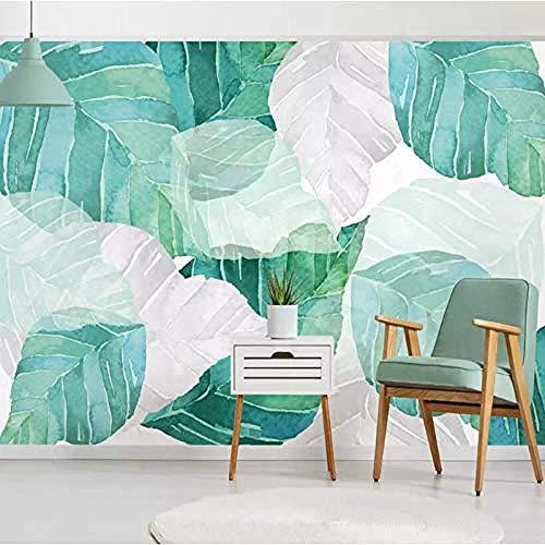 Aangepaste moderne 3D foto behang muurschildering met de hand beschilderd aquarel bladeren woonkamer bank bed muur decoratie op maat 3D behang plakken woonkamer de muur voor slaapkamer muurschildering 30 cm.