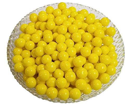 Mini Gumballs 0.5 Inch (Yellow, 2 Pound)