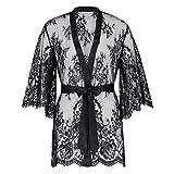 HUNKEMÖLLER Femme Kimono Lace Isabelle Noir M/L