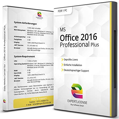 Microsoft Office 2016 Professional - ExpertLicense 32/64 bit ISO DVD + Lizenzschlüssel per E-Mail - inkl. aller aktuellen Updates - Deutsch
