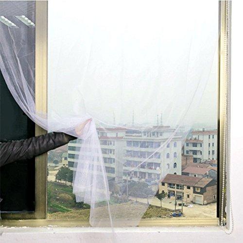 Bazaar Honana wit gordijn insect muskieten zelfklevend deur raam nylon mesh screen net kleverig