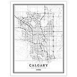 Leinwanddrucke,Kreative Schwarz Und Weiß Calgary City Kein