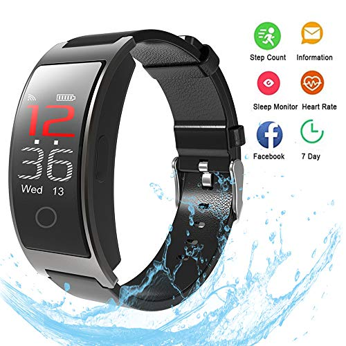 Smart Band Wrist Watch Intelligent Bracelet Fitness Bracelet Tracker Waterproof Sports Bracelet with Blood Pressure,Heart Rate Monitor,Caller Information Reminder Step Counter for iOS and Android