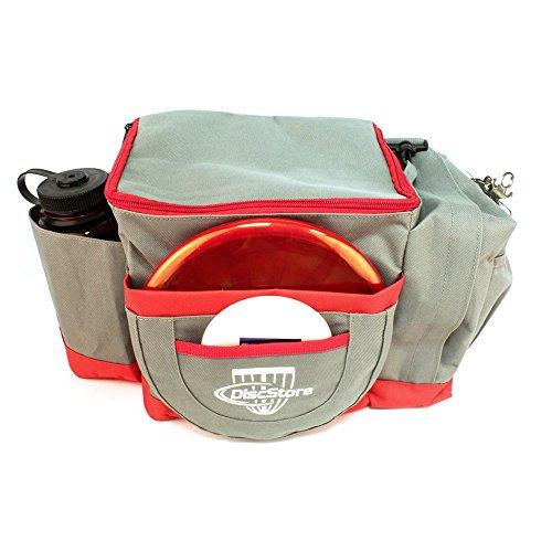 Disc Store Disc Golf Lightweight Tournament Bag - Gray/Red