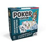 Ducale, le jeu français Poker Magie Baguette de Magicien et livret explicatif Belote Rami Batailles Tarot Junior-Jeu de cartes Enfant, 130008048, bleu