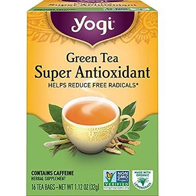 Yogi Tea - Green Tea Super Antioxidant - Organic Green Tea Blend to Support Overall Health - 96 Tea Bags