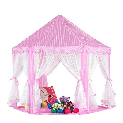 Pericross Kinder Spielzelt Prinzessin Haus für 3-4 Kinder