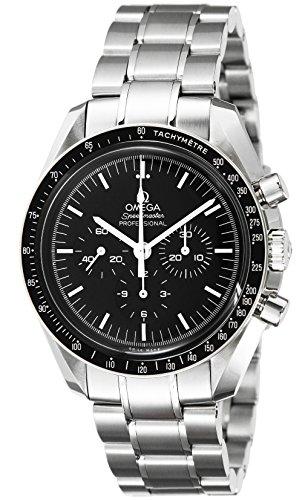 [オメガ] 腕時計 スピードマスター ブラック文字盤 手巻き クロノグラフ 311.30.42.30.01.005 並行輸入品 シルバー