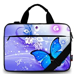 iColor Laptop Carrying Shoulder Bag Sleeve,Made of Soft Canvas Fabric,Soft and Comfortable,Protect Your Laptop from Scratching, Shock and Dust Double Zipper Design Glides Smoothly and Allows Convenient Access to Your Laptop Computer,Adjustable should...