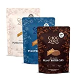 Keto Peanut Butter Cups - No Added Sugar, Monk Fruit Sweetened, Chocolate Dessert, Low Carb Snack (Variety Pack)