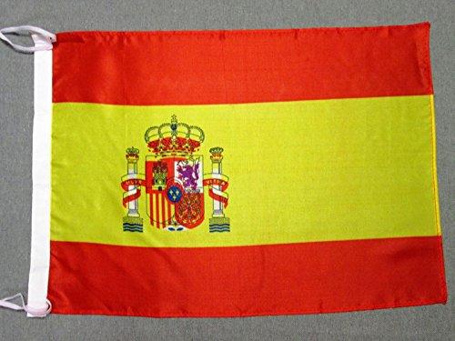 AZ FLAG Flagge Spanien 45x30cm freiner Polyester - SPANISCHE Fahne 30 x 45 cm - flaggen