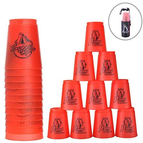 Paquete de 12 tazas de apilamiento para deportes de velocidad, juego de...