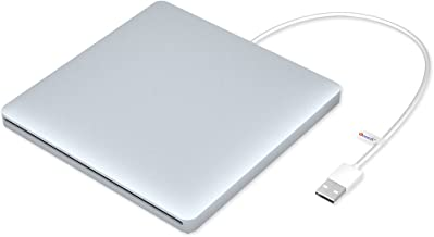 VersionTECH. USB Ultra Slim External DVD Drive Burner Optical Drive CD+/-RW DVD +/-RW Superdrive Disc Duplicator Compatible with Mac Macbook Pro Air iMac and laptop