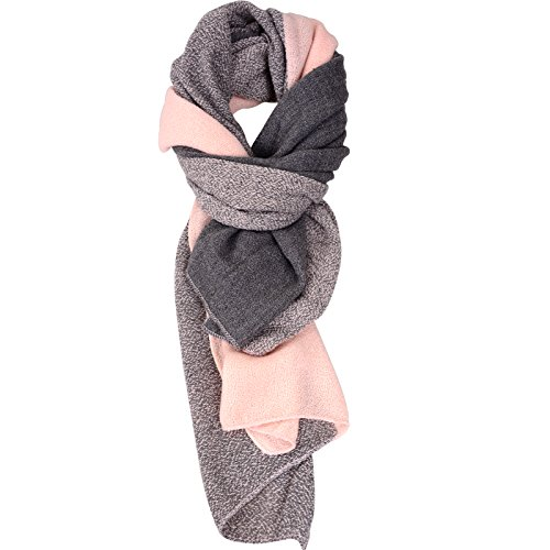 Damen Schal Cashmere Gefällt Wraps DeckeSchal Spleißen Karo Schal Herbst Winter Top Qualität Warm Schal 3Farbe, Einheitsgröße, Rosa