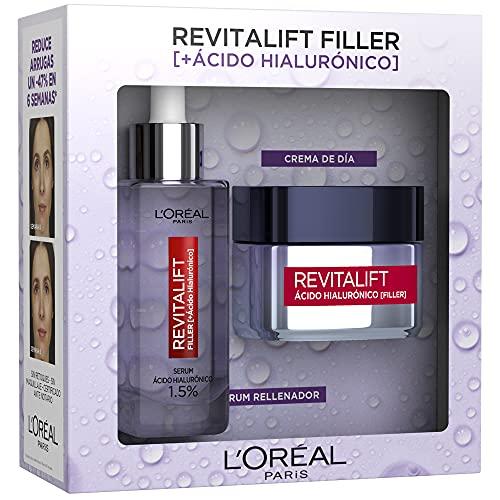 Pack L´Oréal Paris Revitalift Filler Incluye Serum y Crema Filler Día y 7 muestras Serum Retinol Revitalift Laser, Exclusivo Amazon