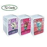Tarjetas de juego NFC Tag para Animal Crossing, 72 piezas Tarjetas de juego Nfc con estuche de cristal Compatible con Nintendo Switch / Wii U(No. 1-No. 72)